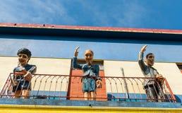 Caminito-Straße im La Boca, Buenos Aires Stockfotografie
