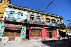 Caminito typiska byggnader i Buenos Aires royaltyfri foto