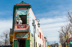 Caminitostraat in La Boca, Buenos aires stock afbeelding