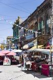 Caminitostraat in La Boca, Buenos aires, Argentinië Stock Fotografie