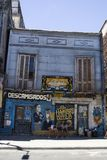 Caminitostraat in La Boca, Buenos aires, Argentinië Royalty-vrije Stock Foto