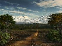 Camino abajo de la colina Imagenes de archivo