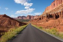 Camino abierto del desierto Fotografía de archivo libre de regalías