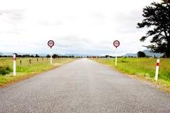 Camino abierto rural Foto de archivo libre de regalías