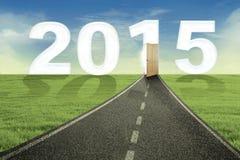 Camino al Año Nuevo 2015 Imágenes de archivo libres de regalías