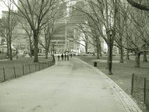 Camino al círculo de los columbs en Central Park Fotografía de archivo libre de regalías