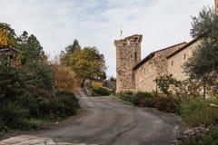Camino al castillo Imagen de archivo libre de regalías