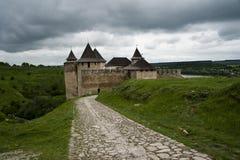 Camino al castillo de Khotyn Fotos de archivo libres de regalías