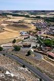 Camino al castillo de Penafiel Foto de archivo libre de regalías