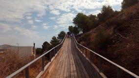 Camino al Castillo-Yecla, Murcia royaltyfria bilder