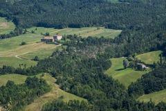 Camino al della Cisa de Passo, de Toscana a Emilia Foto de archivo libre de regalías