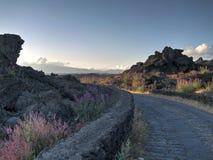 Camino al Etna Imagenes de archivo