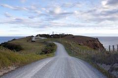 Camino al faro de Katiki Imagen de archivo