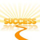 Camino al fondo del vector del éxito