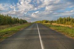 Camino al horizonte Imagenes de archivo
