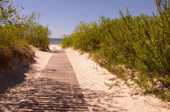 Camino al mar Foto de archivo