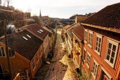Camino al mercado en Arendal Fotos de archivo
