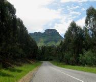 Camino al pico Foto de archivo libre de regalías