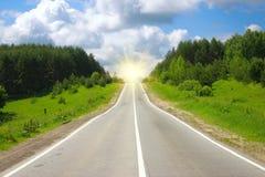 Camino al sol Imagen de archivo libre de regalías