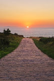 Camino al sol Fotos de archivo
