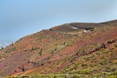 Camino al soporte volcánico Fotos de archivo libres de regalías