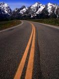Camino al Teton fotografía de archivo libre de regalías