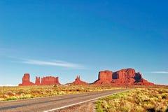 Camino al valle del monumento Fotografía de archivo