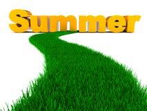 Camino al verano stock de ilustración