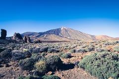 Camino al volcán Imágenes de archivo libres de regalías