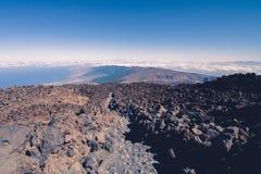 Camino al volcán Imagen de archivo libre de regalías