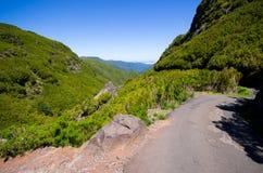 Camino alto en las montañas de Madeira - Portugal Fotos de archivo