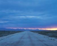 camino a amanecer Imagen de archivo