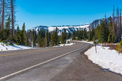 Camino apartado escénico de la gama Nevado Foto de archivo
