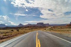 Camino apartado escénico superior del río Colorado, Utah, los E.E.U.U. Foto de archivo libre de regalías