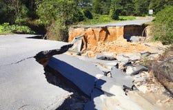 Camino arruinado por el huracán Matthew Imágenes de archivo libres de regalías