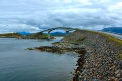 Camino atlántico en Noruega Foto de archivo libre de regalías