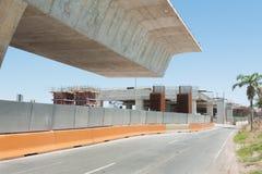 Camino bajo reconstrucción Foto de archivo libre de regalías