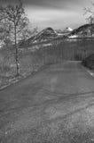 Camino blanco y negro 2 del mt Foto de archivo libre de regalías