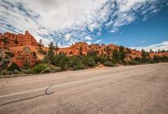 Camino a Bryce Canyon Imágenes de archivo libres de regalías