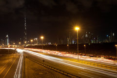Camino a Burj Khalifa Imagen de archivo