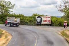 Camino cerca de Pinar del Rio, Cuba Imagen de archivo libre de regalías