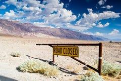 Camino cerrado Foto de archivo libre de regalías