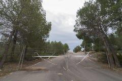Camino cerrado Fotografía de archivo