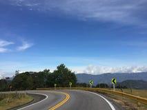 Camino Colombia del viaje imágenes de archivo libres de regalías