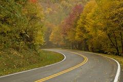 Camino colorido del otoño imagen de archivo libre de regalías