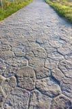 Camino con las piedras de pavimentación Imagen de archivo