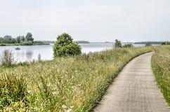Camino concreto de la bicicleta de Naroow Foto de archivo libre de regalías