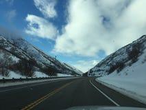Camino congelado Imagen de archivo libre de regalías