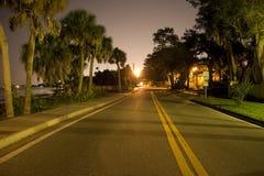 Camino costero en la noche Fotos de archivo