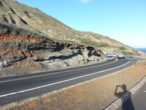 Camino costero en Oahu HAWAII LOS E.E.U.U. imagen de archivo libre de regalías